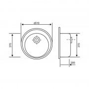 Кухонная гранитная мойка Lidz №202 D510