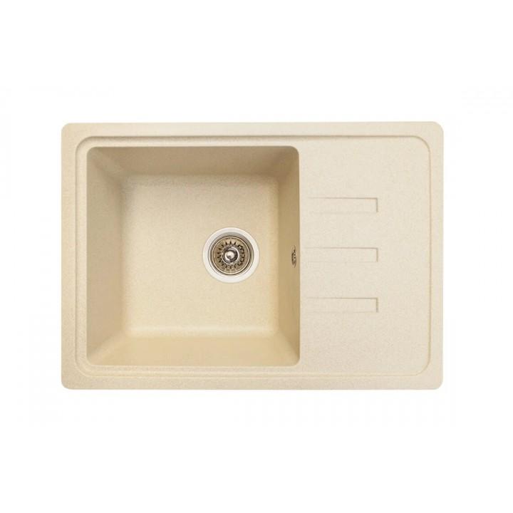 Кухонная гранитная мойка Lidz №205 620x435