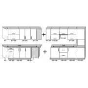 Кухня Модерн угловой набор - 4.9м