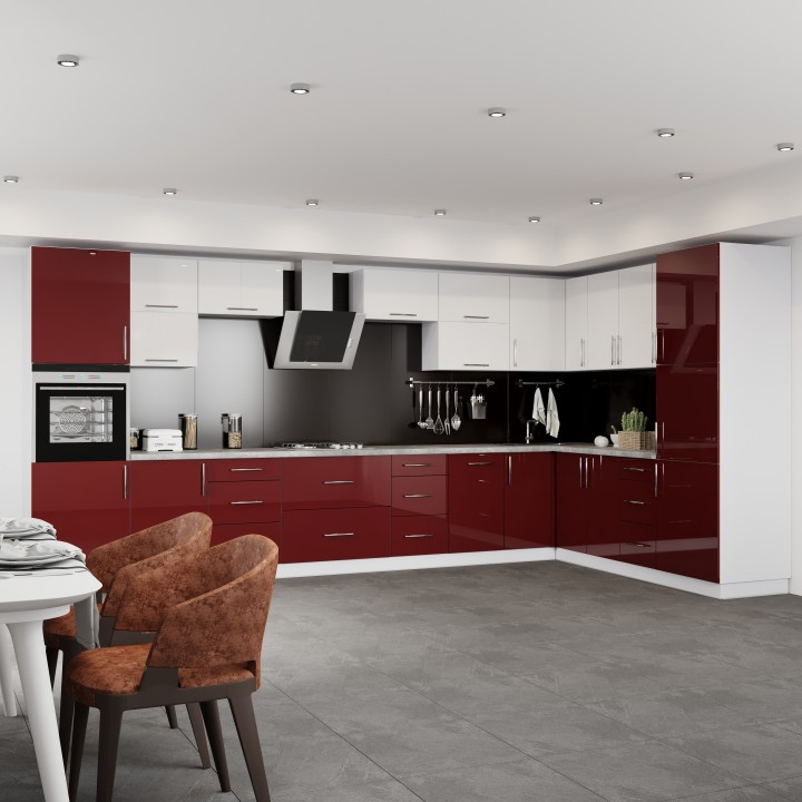 Кухня Модерн угловой набор - 6.0м