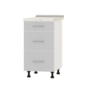 Цвет фасада: Нимфея АЛЬБА (Белый)Цвет каркаса: Белый