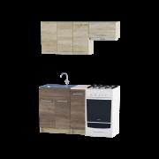 Цвет изделия: Комби Сонома + ТрюфельСтолешница: Столешница для накладной мойкиМойка: Мойка накладная 600 LСушилка для посуды: Без сушилки
