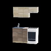 Цвет изделия: Комби Сонома + ТрюфельСтолешница: Столешница для накладной мойкиСушилка для посуды: Без сушилкиМойка: Мойка накладная 600 R