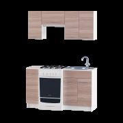 Цвет изделия: Комби Ясень Шимо темный + БелыйСтолешница: Столешница для врезной мойкиМойка: Мойка врезная 600