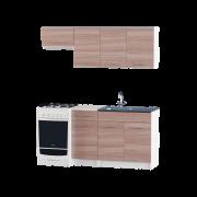 Цвет изделия: Комби Ясень Шимо темный + БелыйСтолешница: Столешница для накладной мойкиМойка: Мойка накладная 800 L