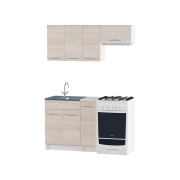 Цвет изделия: Комби Ясень Шимо светлый + БелыйСтолешница: Столешница для накладной мойкиМойка: Мойка накладная 600 RСушилка для посуды: Без сушилки