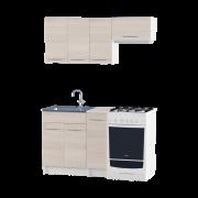 Цвет изделия: Комби Ясень Шимо светлый + БелыйСтолешница: Столешница для накладной мойкиСушилка для посуды: Без сушилкиМойка: Мойка накладная 600 L