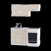Цвет изделия: Комби Ясень Шимо светлый + БелыйСтолешница: Столешница для врезной мойкиМойка: Мойка врезная 600Сушилка для посуды: Без сушилки