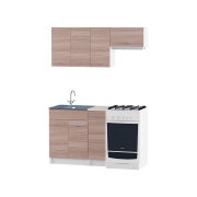 Цвет изделия: Комби Ясень Шимо темный + БелыйСтолешница: Столешница для накладной мойкиСушилка для посуды: Без сушилкиМойка: Мойка накладная 600 R