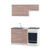 Цвет изделия: Комби Ясень Шимо темный + БелыйСтолешница: Столешница для накладной мойкиСушилка для посуды: Без сушилкиМойка: Мойка накладная 600 L