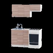 Цвет изделия: Комби Ясень Шимо темный + БелыйСтолешница: Столешница для врезной мойкиМойка: Мойка врезная 600Сушилка для посуды: Без сушилки