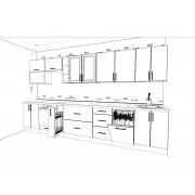 Кухонный набор Оптима 3.7 м