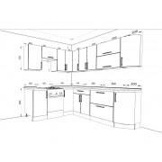 Кухонный угловой набор Модерн 3.55 м