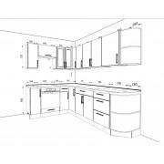 Кухонный угловой набор Акрил 3.73 м