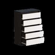 Цвет изделия: Комби Венге темный + БелыйМеханизмы выдвижения : Роликовые направляющие