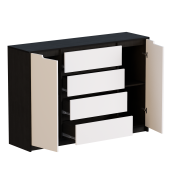 Цвет изделия: Комби Венге темный + БелыйМеханизмы выдвижения : Телескопические направляющие