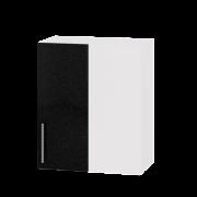 Цвет фасада: Черный металликЦвет каркаса: Белый