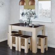 Обеденный стол комплект + 4 табурета СТО-1