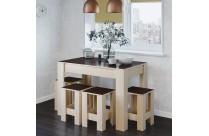 Обеденный стол комплект СТО-1 + 4 табурета